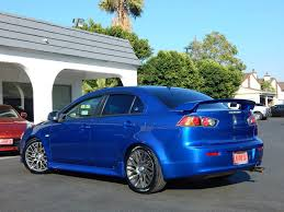 blue mitsubishi lancer 2010 used mitsubishi lancer gts sedan stylish quick sedan clean
