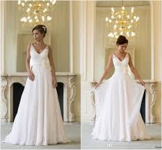 flowing wedding dresses grecian backless wedding dresses v neck flowing vintage boho