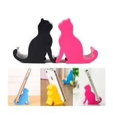 support smartphone bureau support smartphone bureau silhouette stand cat coloris
