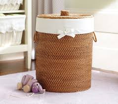 Pottery Barn Baskets With Liners Wicker Hamper U0026 Liner Pottery Barn Kids