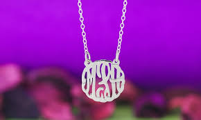 script monogram necklace monogramhub up to 76 groupon