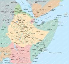 Map Of Somalia Ethiopia Somalia Yemen Map Powerpoint Mountain High Maps Plus