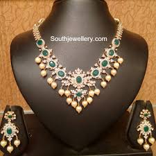 emerald necklace sets images Cz emerald necklace set addicted to jewelry pinterest jpg