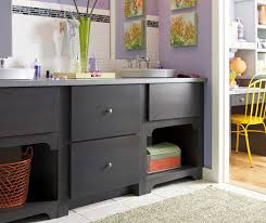 Dark Gray Bathroom Vanity by Gray Bathroom Design With Wooden Panel Walls And Dark Gray