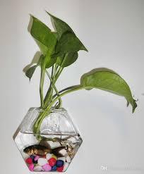 hexagon wall hanging planters desktop vase wall terrarium wall
