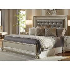 Metallic Champagne King Size Bed Diva RC Willey Furniture Store - Bedroom sets at rc willey