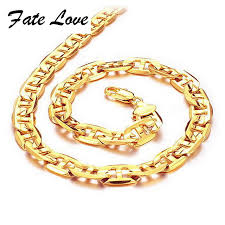 new necklace collection images Online shop fate love new collection men chain gold color necklace jpg