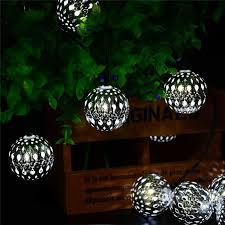 solar powered fairy lights for trees new arrive 10led 11ft solar powered fairy moroccan lantern silver
