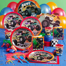 monster truck jams monster jam party supplies possibly noah u0027s 3d birthday party
