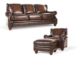 Loveseat Ottoman Futura Living Room Frankford Leather Sofa Chair And Ottoman