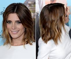 ashley greene with beautiful ombre ashley greene s gorgeous ombre lob at wish i was here premiere
