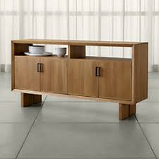 Sideboard Walnut Monarch Shiitake Solid Walnut Small Sideboard Crate And Barrel