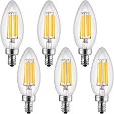 low cost leto candelabra led bulbs dimmable 4w ul listed 40w light