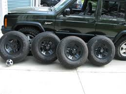 jeep rims black for sale 4 stock jeep rims and tires painted black