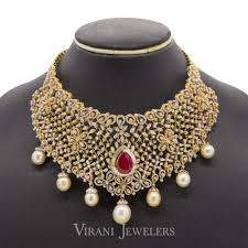 choker necklace with pearls images 22 14 ct vvs diamond bridal choker necklace earrings set w jpg