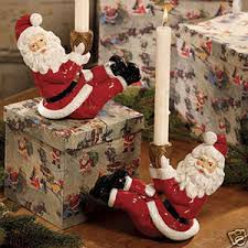christmas holders bethany lowe santa christmas candle holders decoration the