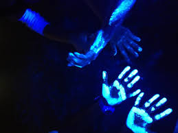 black light and germs germs germs everywhere