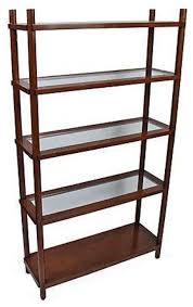 Glass Bookcases Wood And Glass Shelf Unit 1 400 Est Retail 950 On Chairish Com