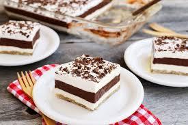 layered chocolate pudding dessert the pioneer woman