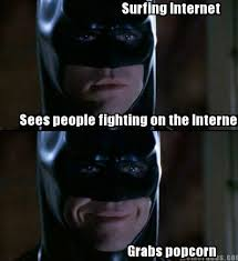 Internet Fight Meme - meme faces surfing internet sees people fighting on the internet
