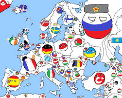 Map Of Europe Game by Polandball Europe By Robo Diglet On Deviantart