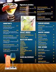 cocktail drinks menu restaurant casona restaurant