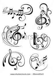 music notes tattoo stock images royalty free images u0026 vectors