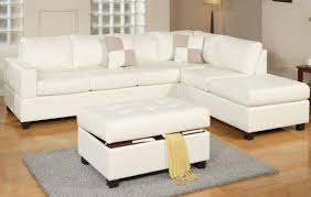 Cream Leather Chaise Sacramento White Cream Leather Sectional Sofa With Left Facing