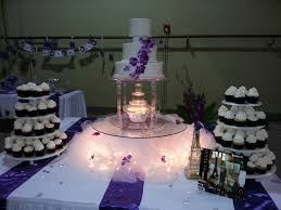 wedding cakes with fountains purple floral wedding cake with ipunya