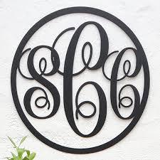 monogram initials buy monogram initials script circle 14 5 by metal unlimited on