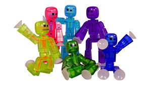 amazon com toy shed stikbots for 6 color action figure pack of 6