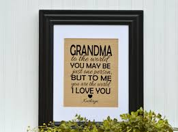 framed burlap gift grandmother gift unique gift idea grandma