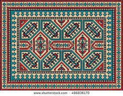 Colorful Kilim Rug Colorful Mosaic Kilim Rug Traditional Folk Stock Vector 498836170