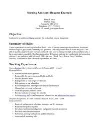 Printable Sample Resume by Charming Sample Nursing Assistant Resume Samples Cna Cv For