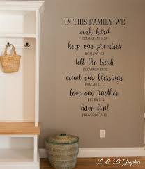 in this family we bible verse vinyl wall decal christian