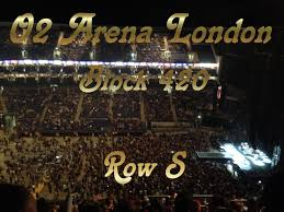 o2 arena london block 420 row s very high up youtube