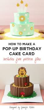 make birthday cake how to make a pop up birthday cake card maker