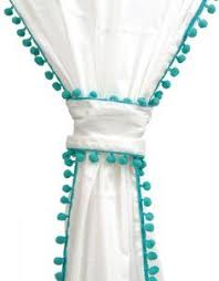 White And Teal Curtains White Curtain With Teal Trim Search Curtains Pinterest