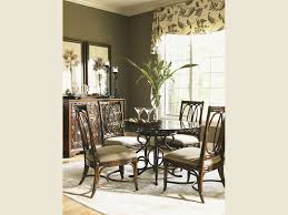 No Dining Room by Tommy Bahama Home Landara Rectangular Dining Table Set By Dining