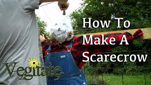 how to make a cool scarecrow youtube