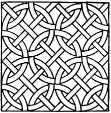 10 coloring pages of mosaic print color craft