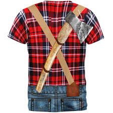 domo halloween costume halloween lumberjack costume all over t shirt u2013 oldglory com