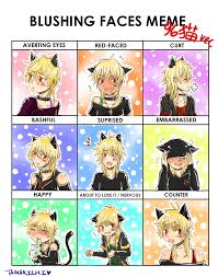 Meme Neko - blushing faces meme neko general anime stuffs pinterest