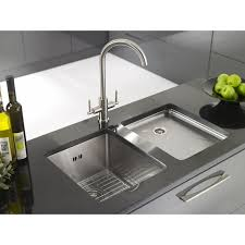 modern kitchen sink with drain boards and chrome faucet modern stainless steel sink with drainboard home ideas collection