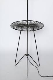 Wire Side Table 1950s Black Wrought Iron And Black Wire Sunburst Floor Lamp Side