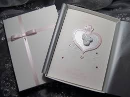 cinderella handmade luxury wedding card