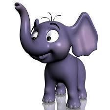 cartoon baby elephant rigged 3d model cgtrader