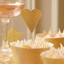 heart cake topper gold glitter heart cake toppers pipii