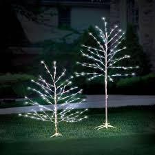 the 6 foot prelit glistening silver branch tree hammacher schlemmer
