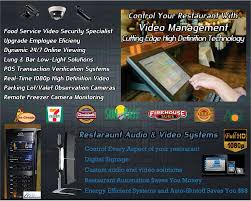 home theater service restaurant and food service cctv and video surveillance systems